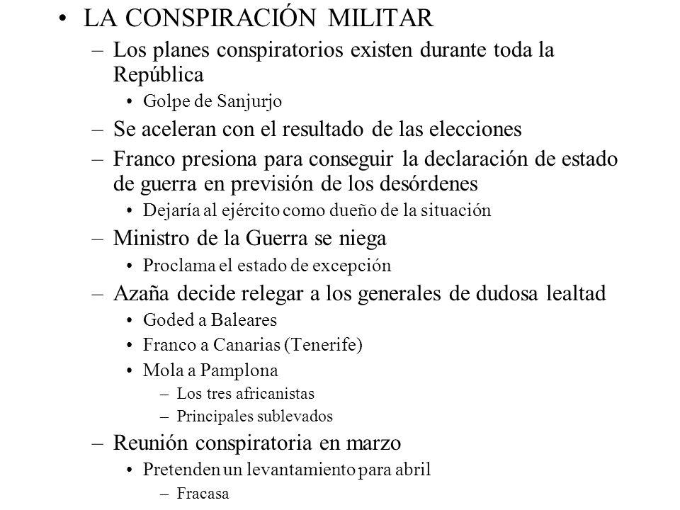 LA CONSPIRACIÓN MILITAR