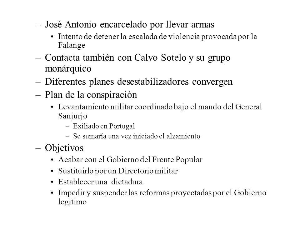 José Antonio encarcelado por llevar armas
