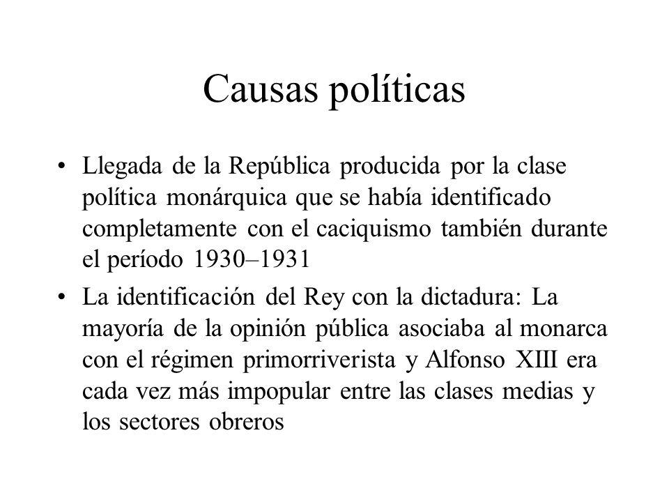 Causas políticas
