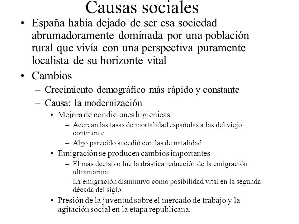 Causas sociales
