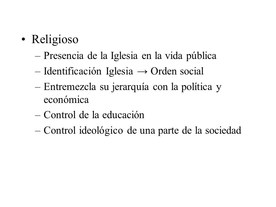 Religioso Presencia de la Iglesia en la vida pública