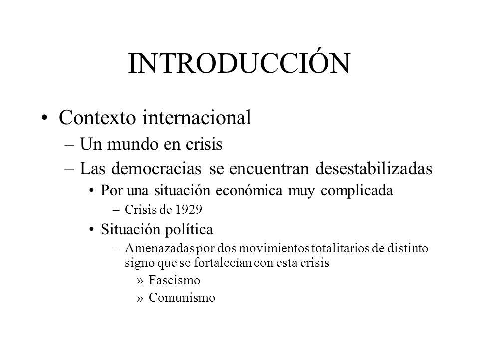INTRODUCCIÓN Contexto internacional Un mundo en crisis