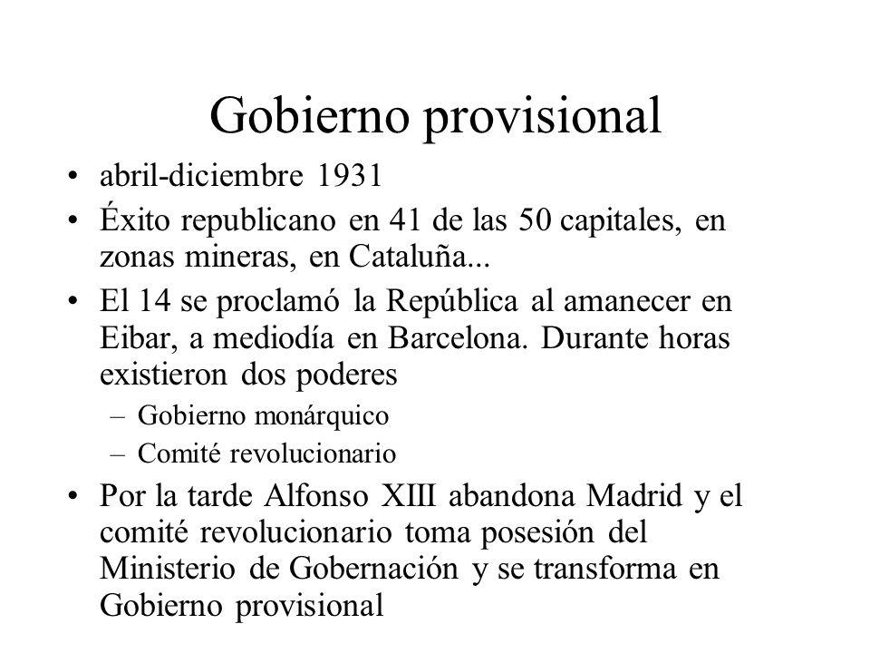 Gobierno provisional abril-diciembre 1931