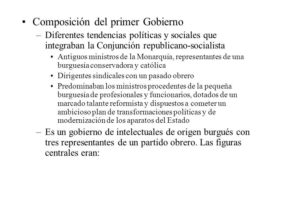 Composición del primer Gobierno