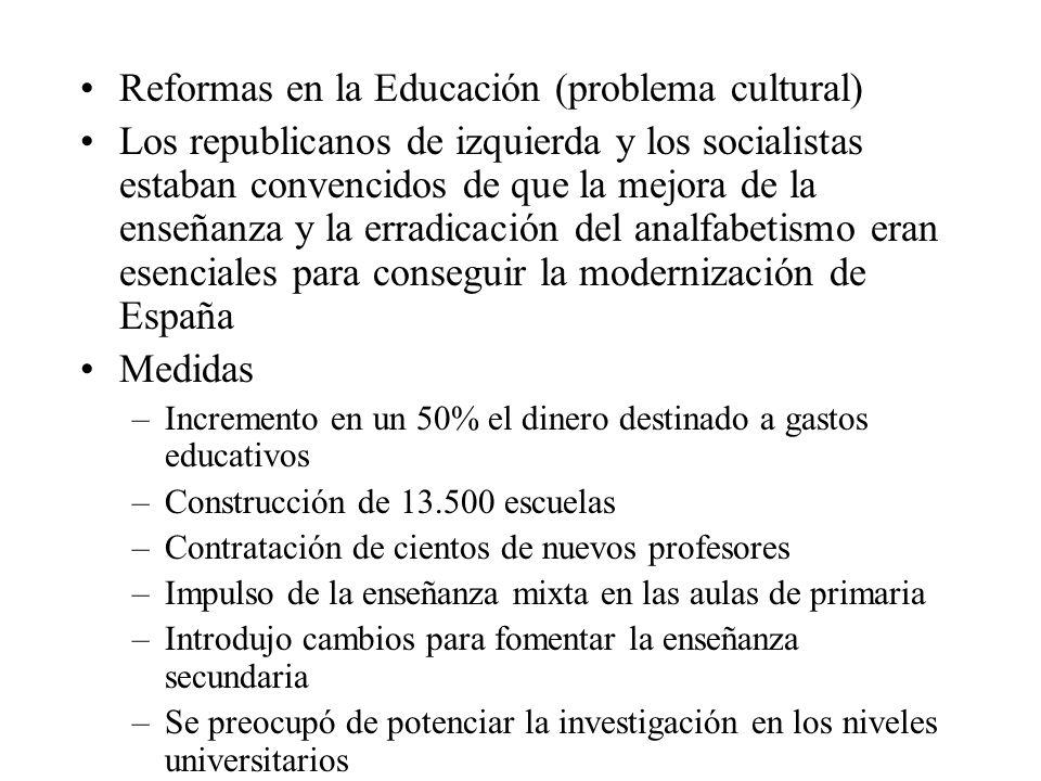 Reformas en la Educación (problema cultural)