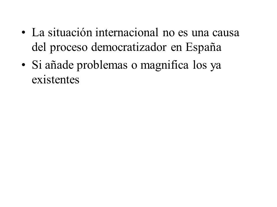 La situación internacional no es una causa del proceso democratizador en España