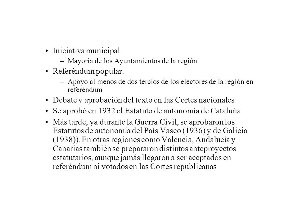 Debate y aprobación del texto en las Cortes nacionales