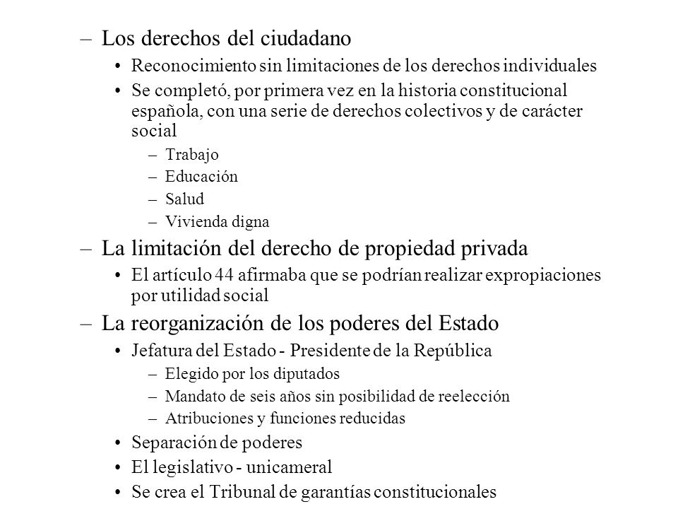 Los derechos del ciudadano