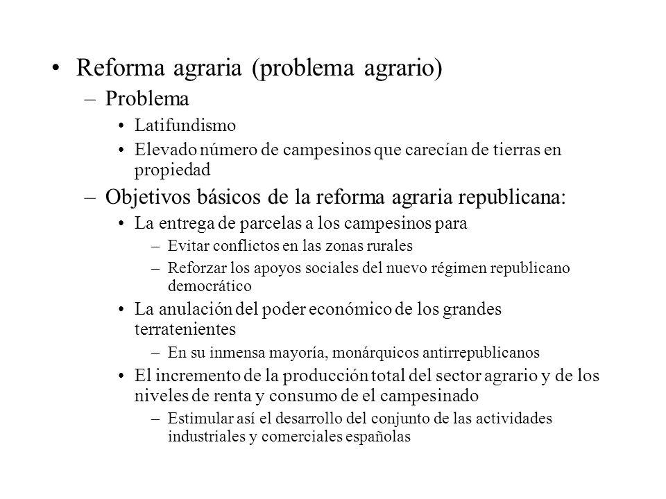 Reforma agraria (problema agrario)