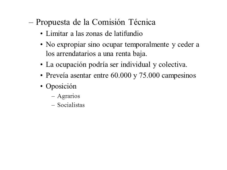 Propuesta de la Comisión Técnica
