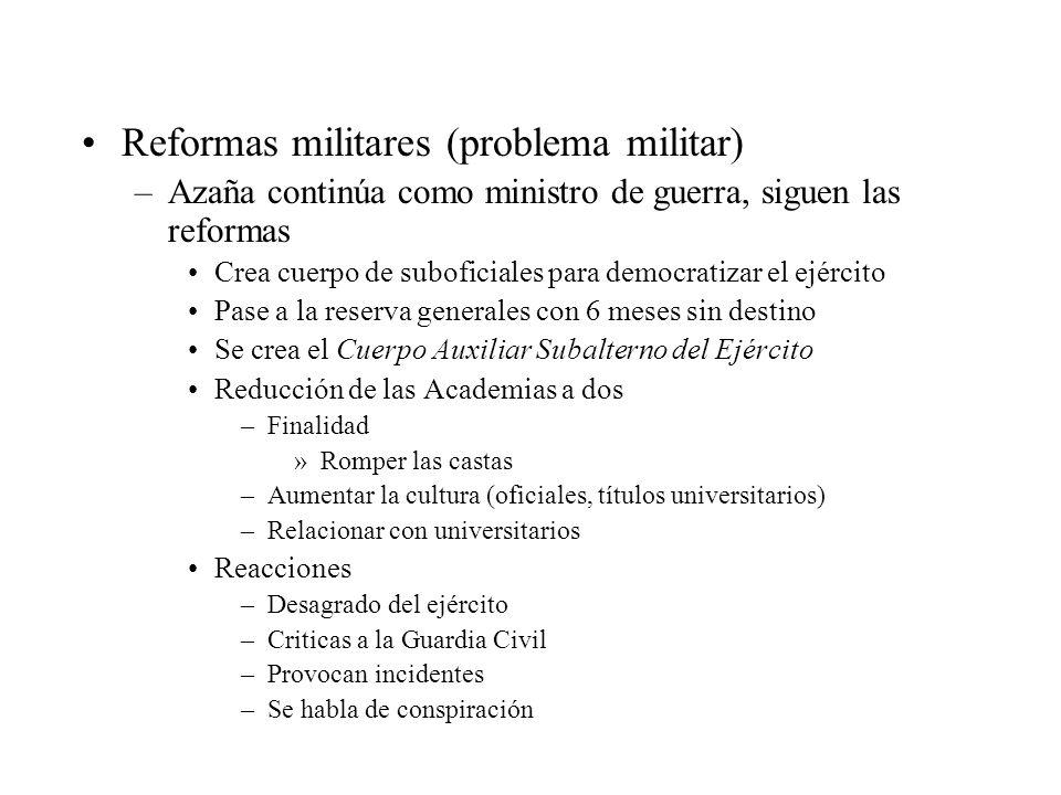 Reformas militares (problema militar)