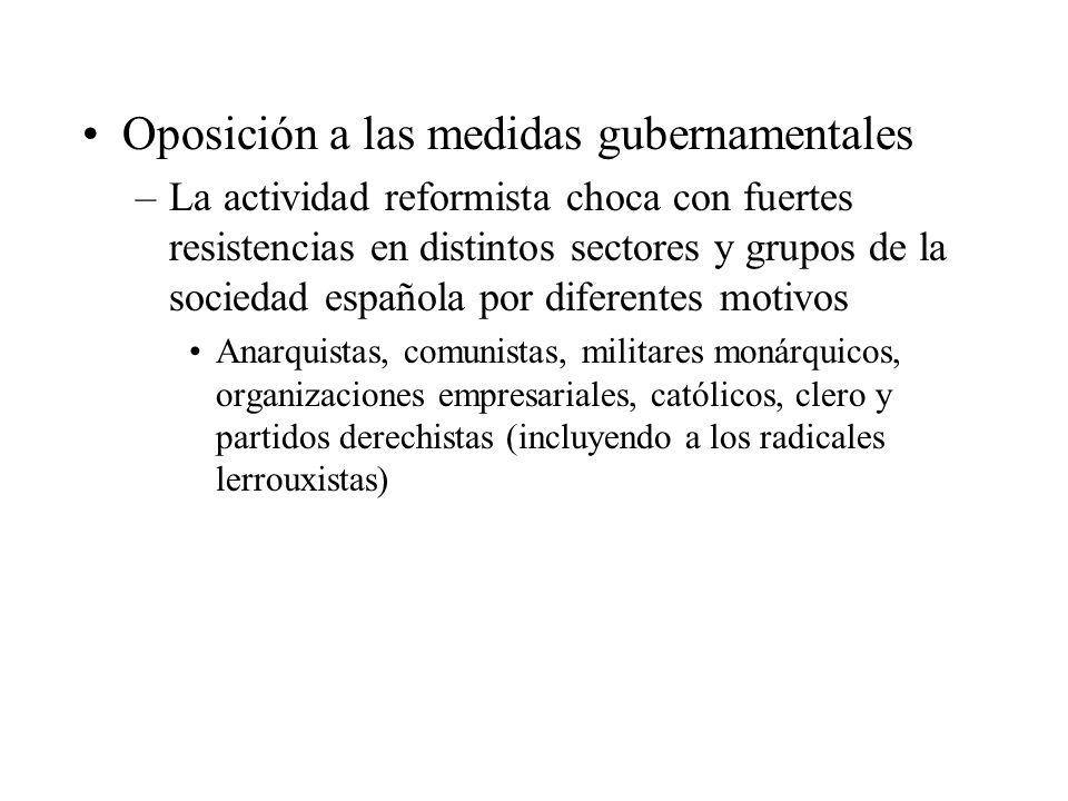 Oposición a las medidas gubernamentales