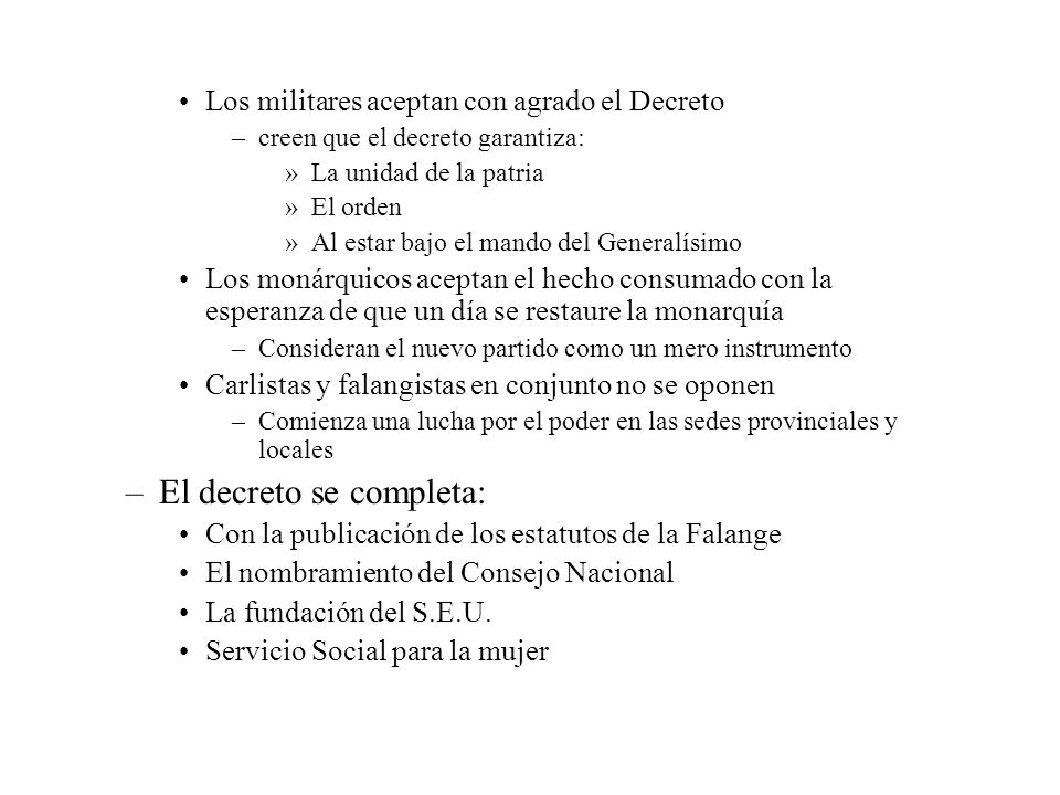 El decreto se completa:
