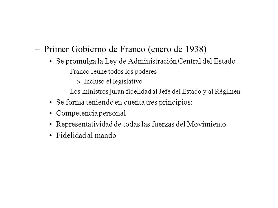 Primer Gobierno de Franco (enero de 1938)