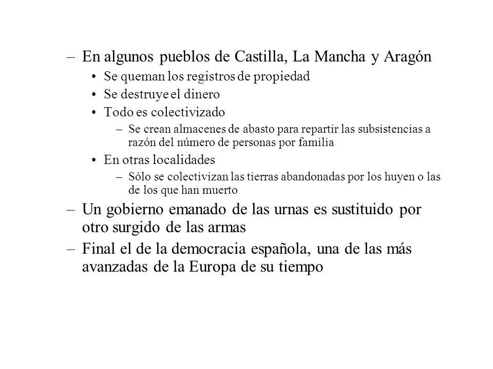 En algunos pueblos de Castilla, La Mancha y Aragón