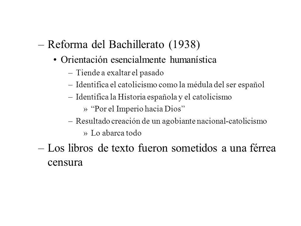 Reforma del Bachillerato (1938)
