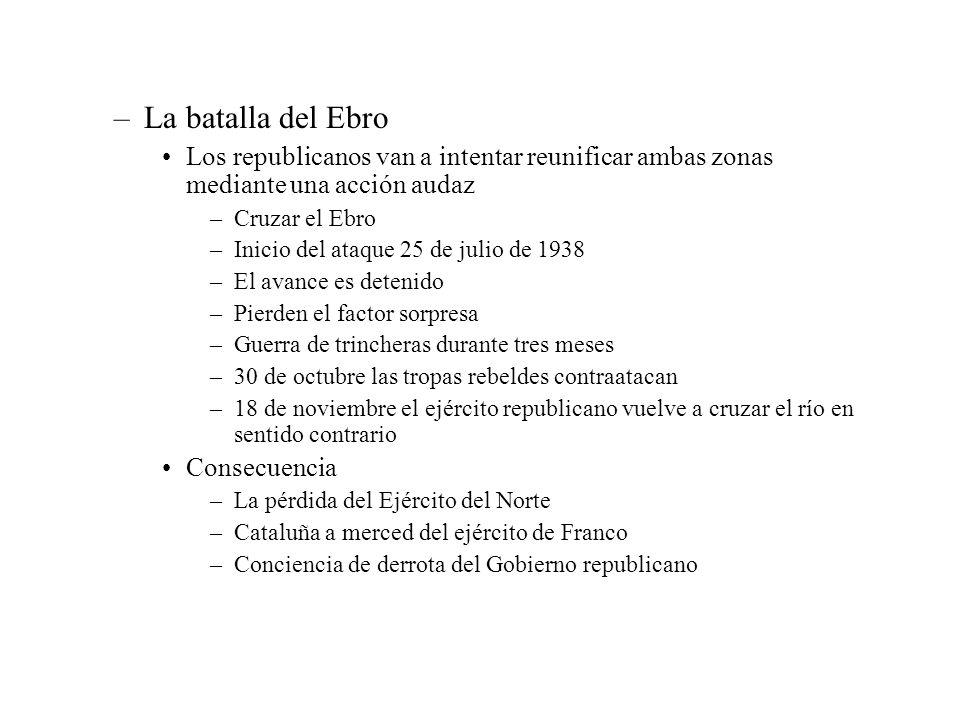 La batalla del Ebro Los republicanos van a intentar reunificar ambas zonas mediante una acción audaz.