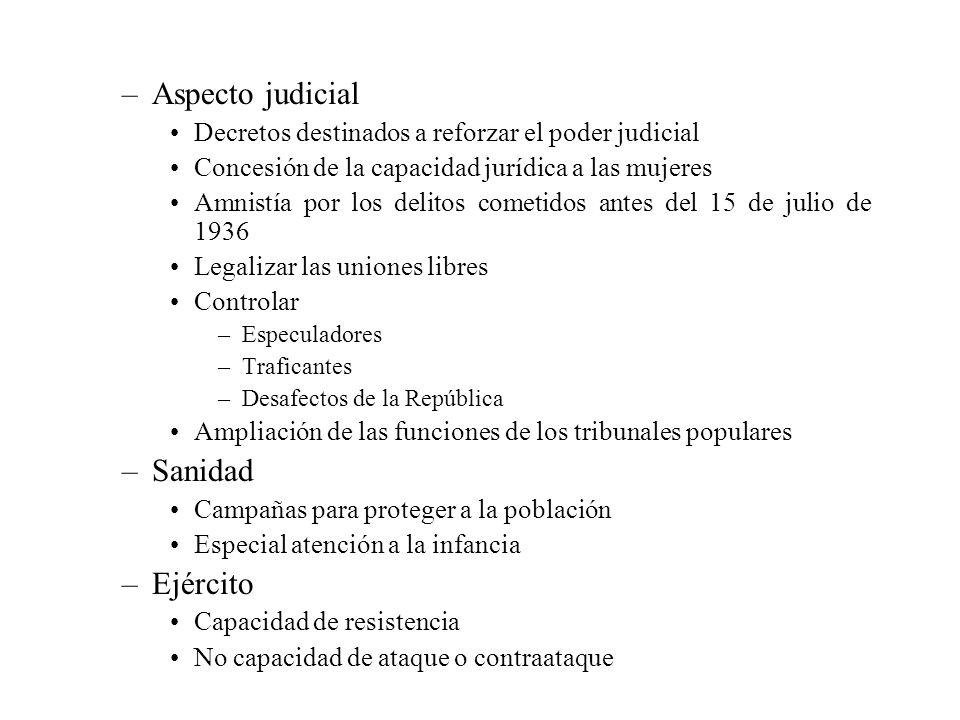Aspecto judicial Sanidad Ejército
