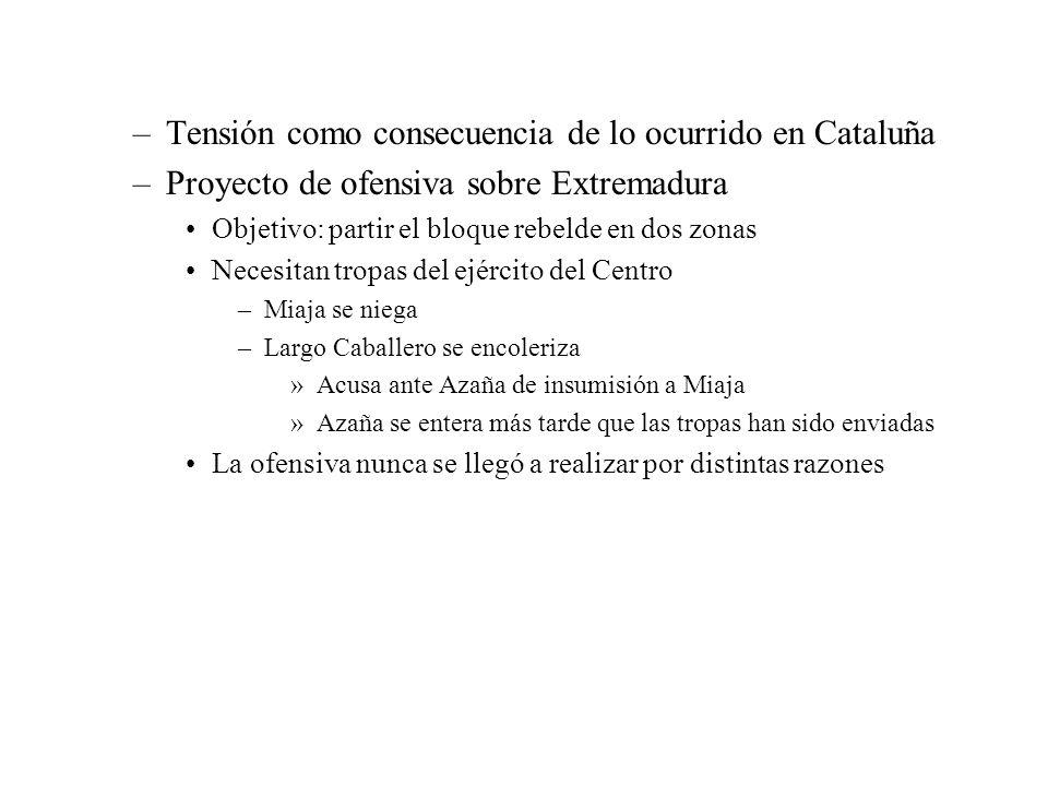 Tensión como consecuencia de lo ocurrido en Cataluña