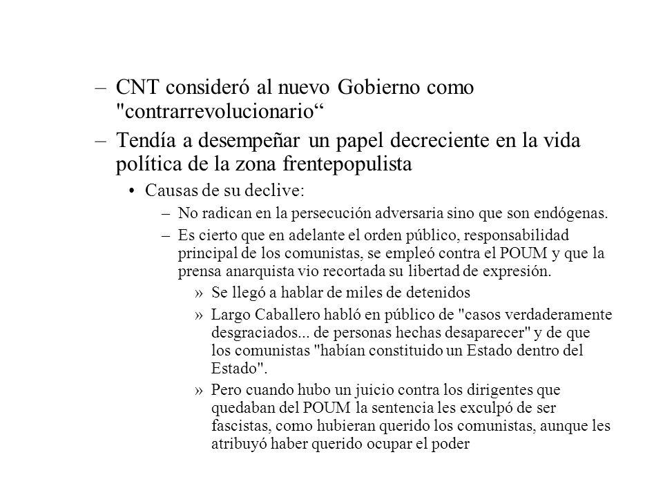 CNT consideró al nuevo Gobierno como contrarrevolucionario