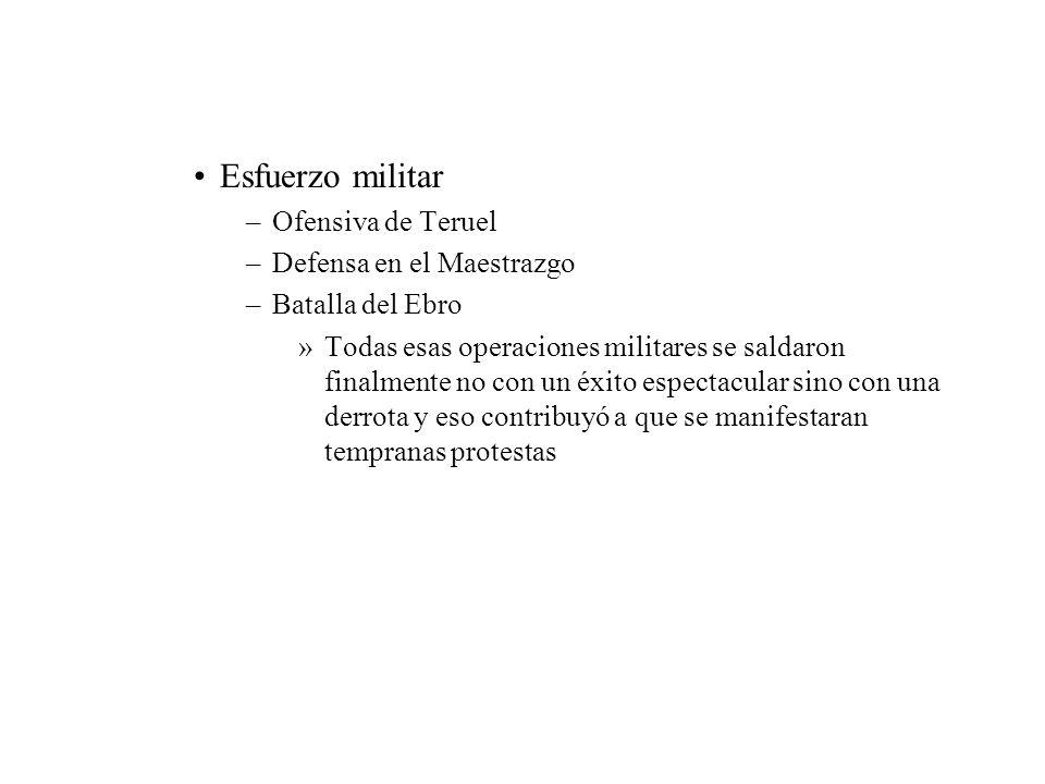 Esfuerzo militar Ofensiva de Teruel Defensa en el Maestrazgo