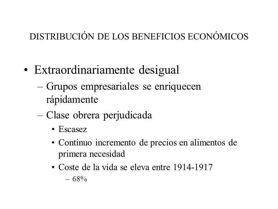 DISTRIBUCIÓN DE LOS BENEFICIOS ECONÓMICOS