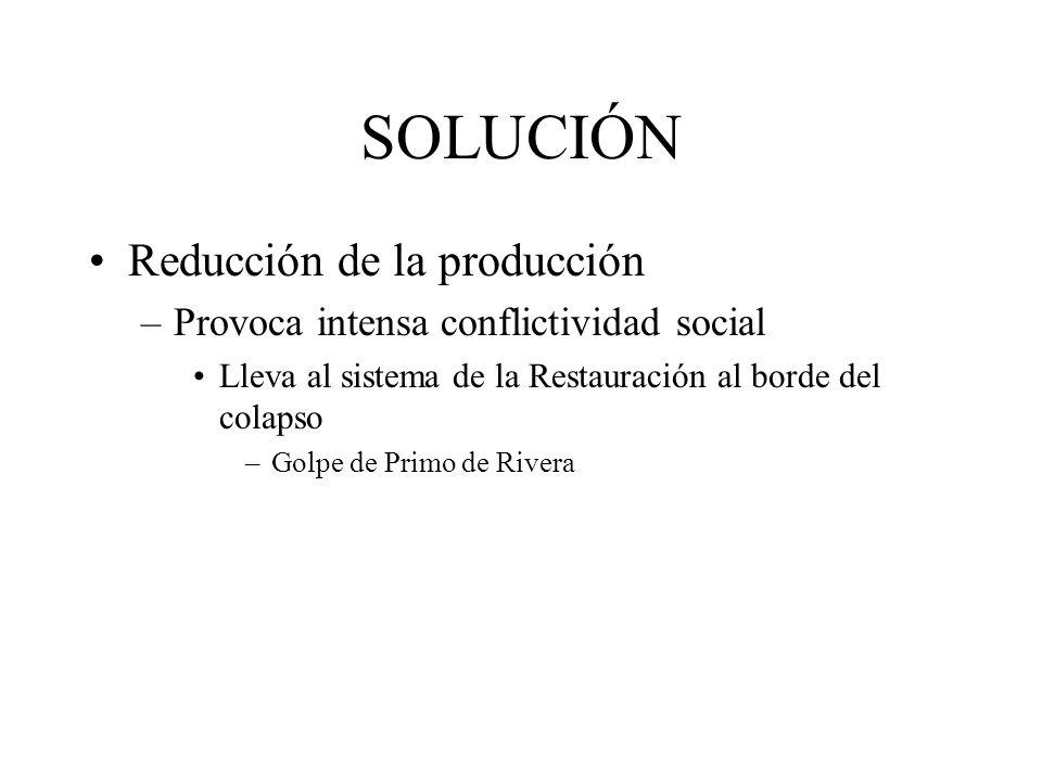 SOLUCIÓN Reducción de la producción