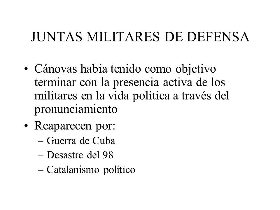 JUNTAS MILITARES DE DEFENSA