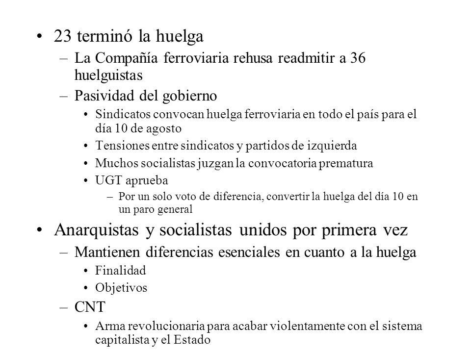 Anarquistas y socialistas unidos por primera vez