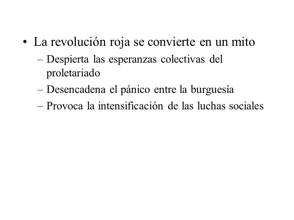 La revolución roja se convierte en un mito