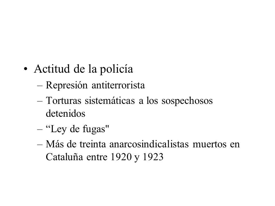 Actitud de la policía Represión antiterrorista