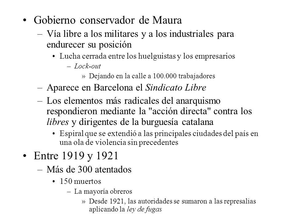 Gobierno conservador de Maura
