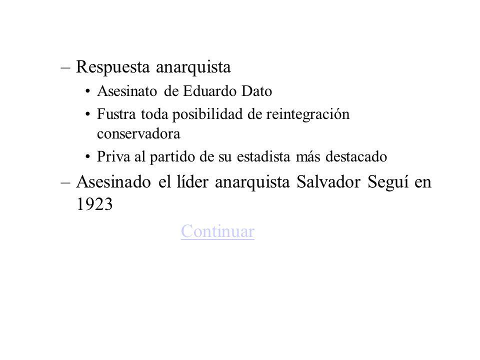 Asesinado el líder anarquista Salvador Seguí en 1923 Continuar
