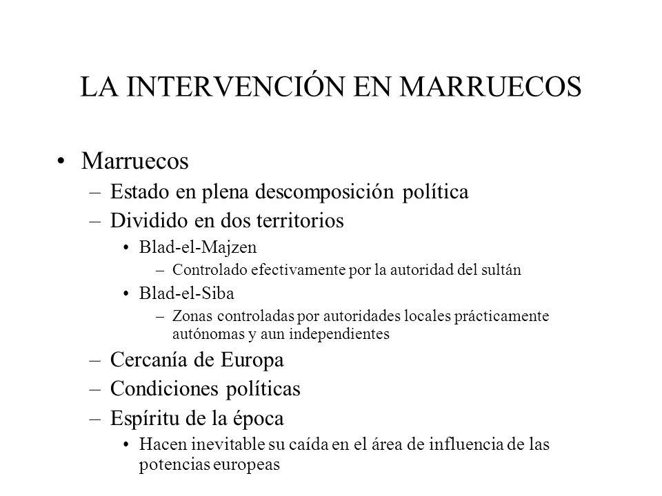 LA INTERVENCIÓN EN MARRUECOS