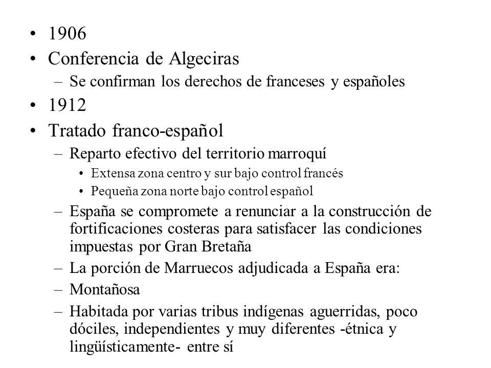 Conferencia de Algeciras 1912 Tratado franco-español