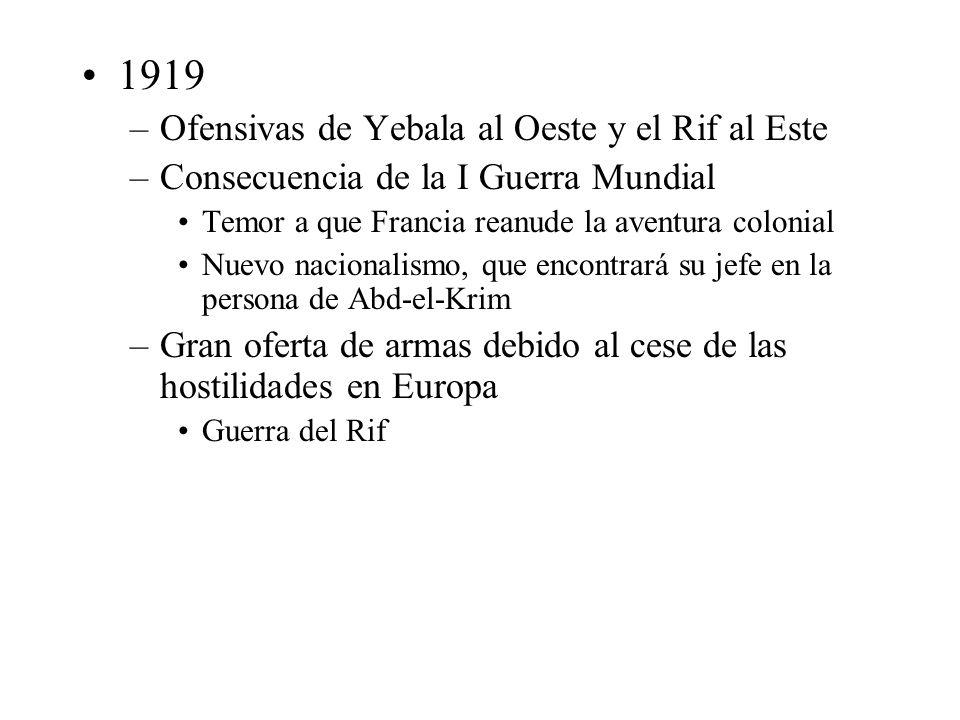 1919 Ofensivas de Yebala al Oeste y el Rif al Este