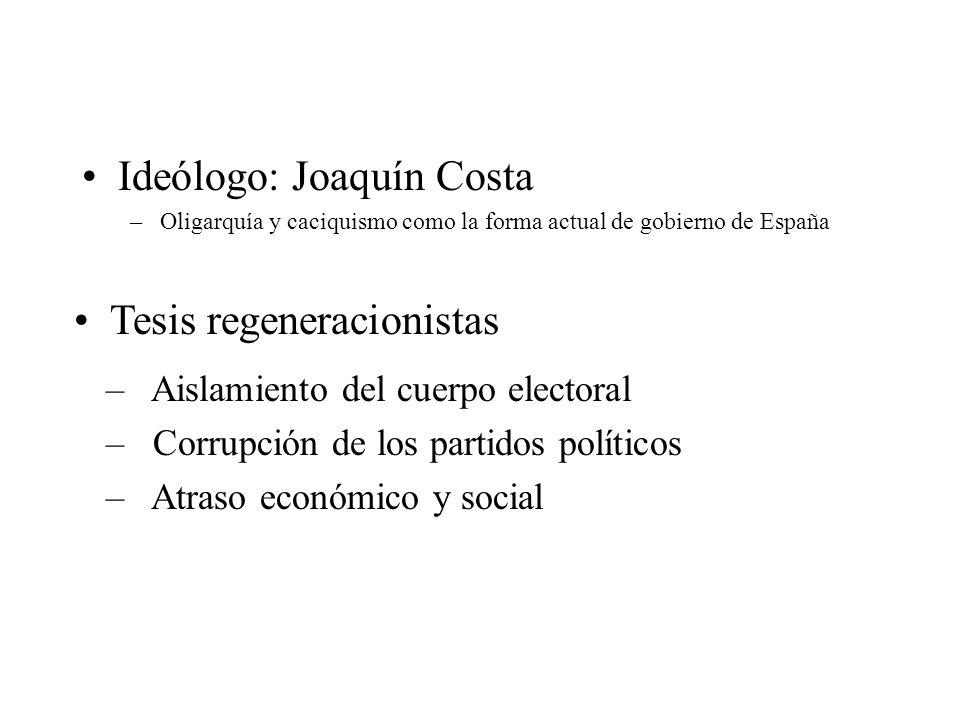 Ideólogo: Joaquín Costa
