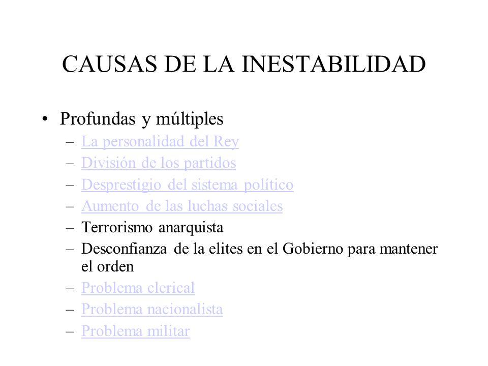 CAUSAS DE LA INESTABILIDAD