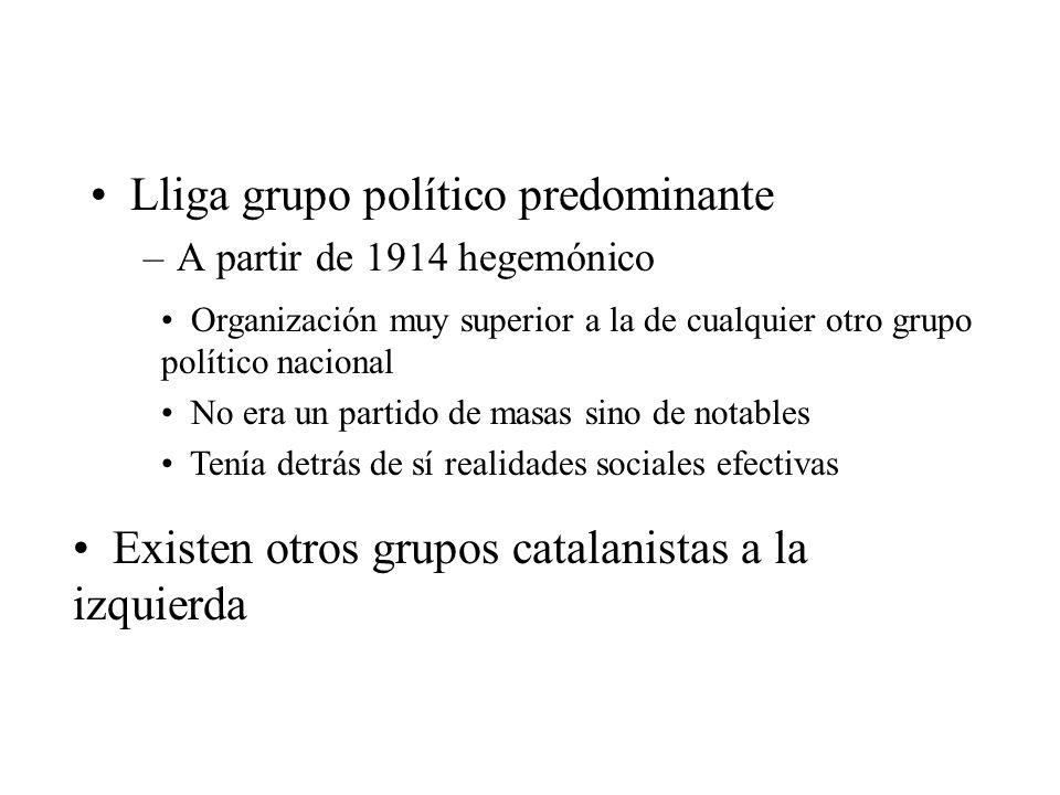 Lliga grupo político predominante