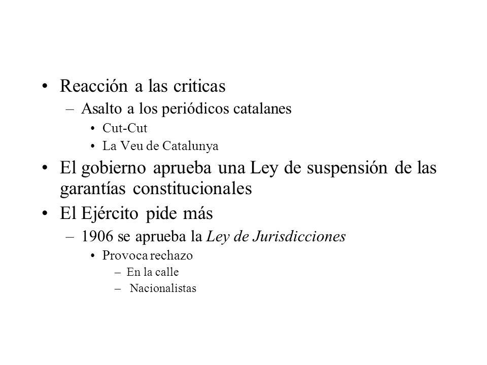 Reacción a las criticas