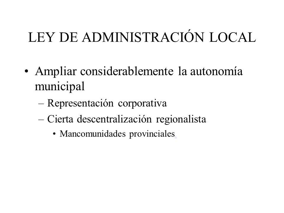 LEY DE ADMINISTRACIÓN LOCAL