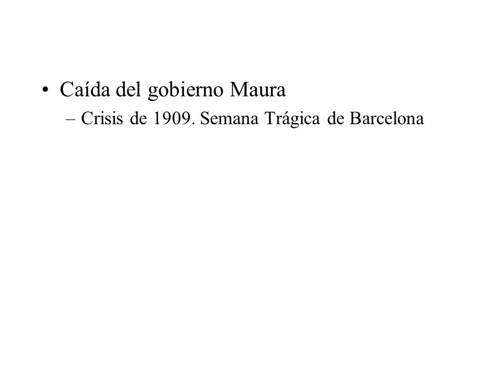Caída del gobierno Maura