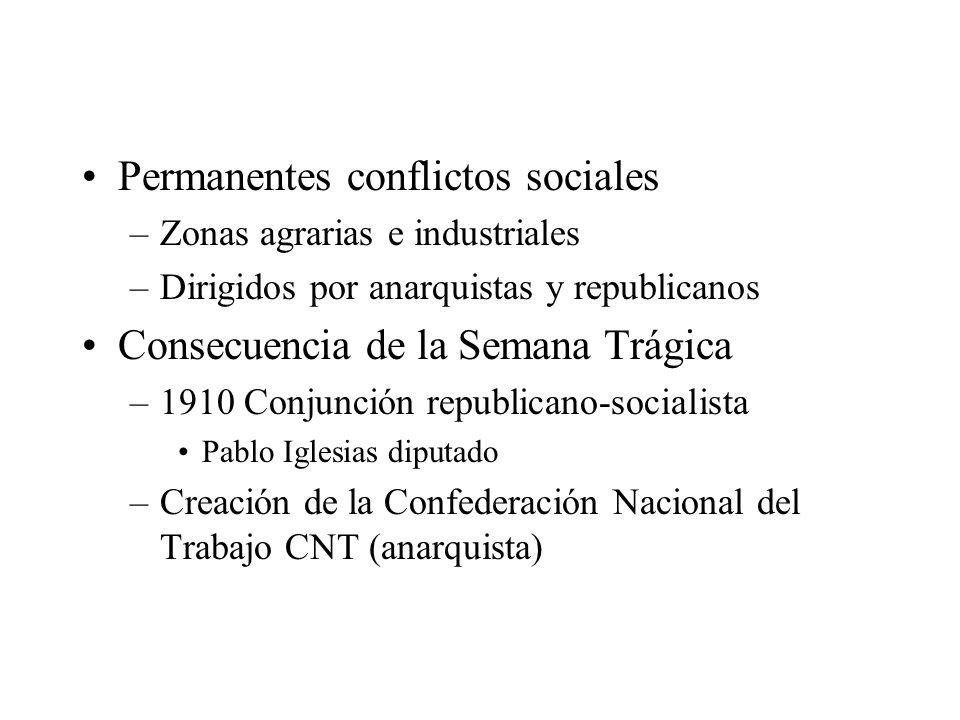 Permanentes conflictos sociales