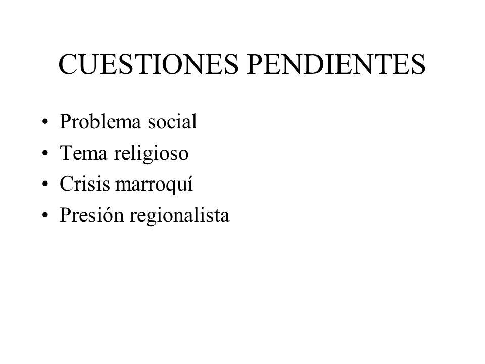CUESTIONES PENDIENTES