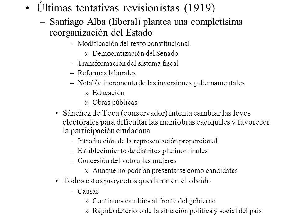 Últimas tentativas revisionistas (1919)