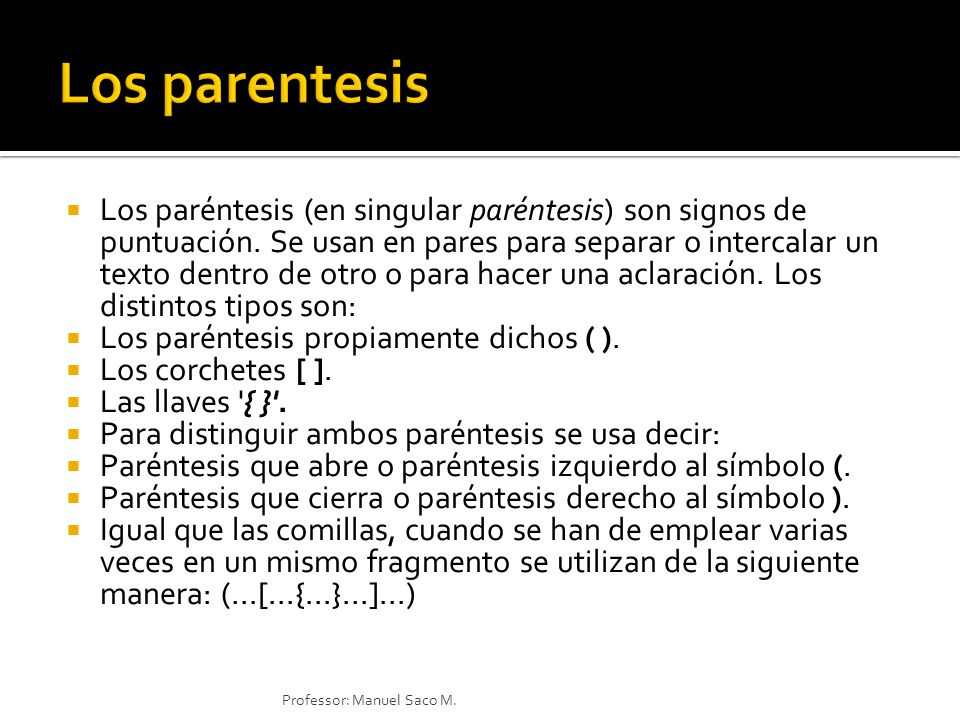 Los parentesis