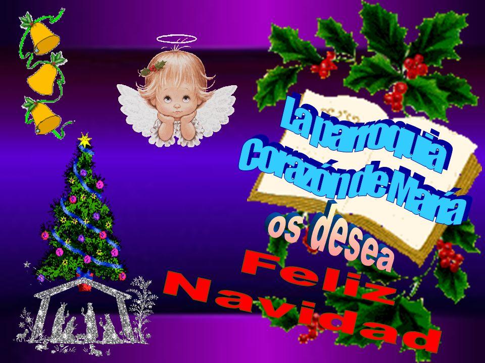 La parroquia Corazón de María os desea Feliz Navidad