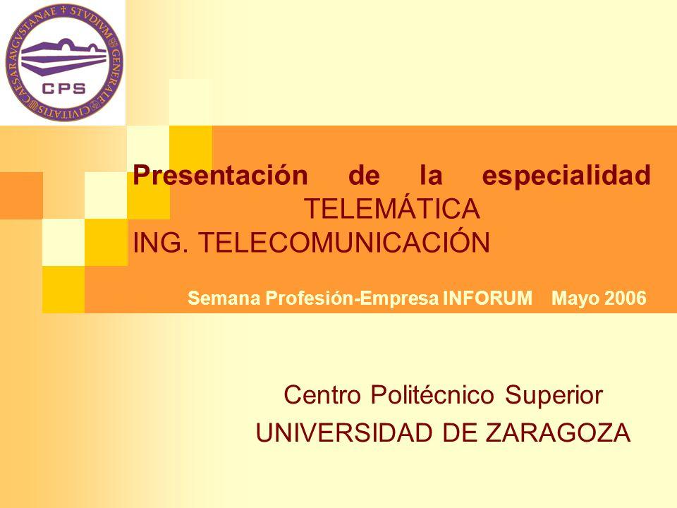 Presentación de la especialidad TELEMÁTICA ING. TELECOMUNICACIÓN