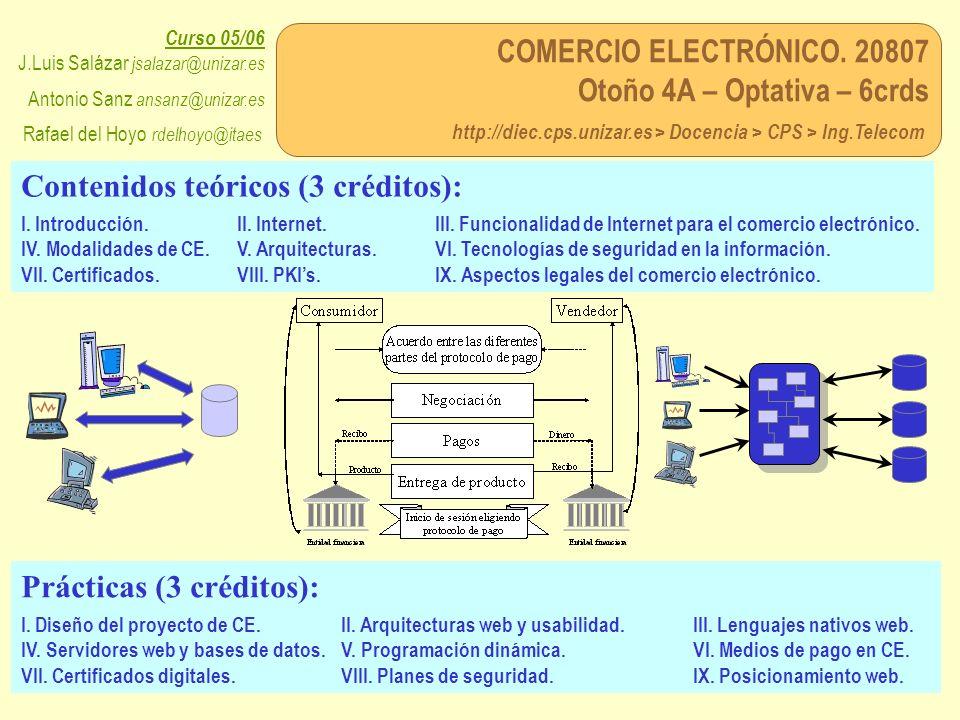 Contenidos teóricos (3 créditos):