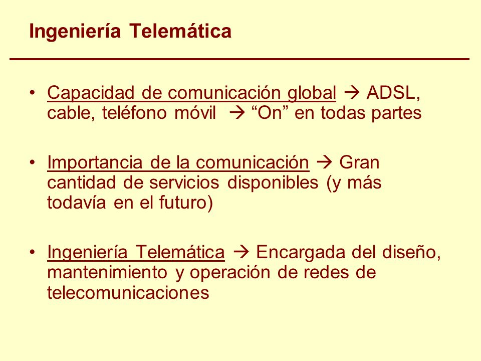Ingeniería Telemática